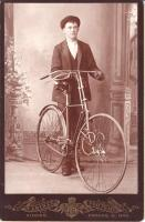 Gent with Union Solid Tire Safety - Circa 1890