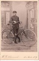 "Gent with Columbia ""Century"" - Pneumatic Safety 1892"