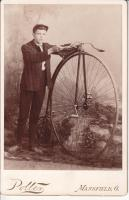 Young Man with Columbia Light Roadster Ordinary 1885