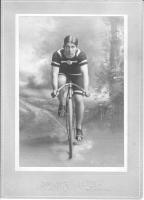 Racing cyclists circa 1900