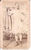 """John """"Happy Jack """" Keen - Racing Cyclist - Circa 1880"""